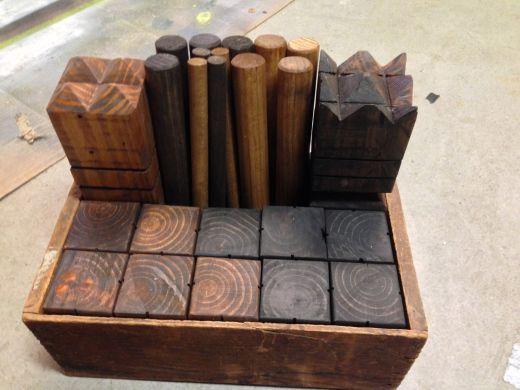 Kubb Game Set Kubb Game Diy Yard Games Wooden Board Games