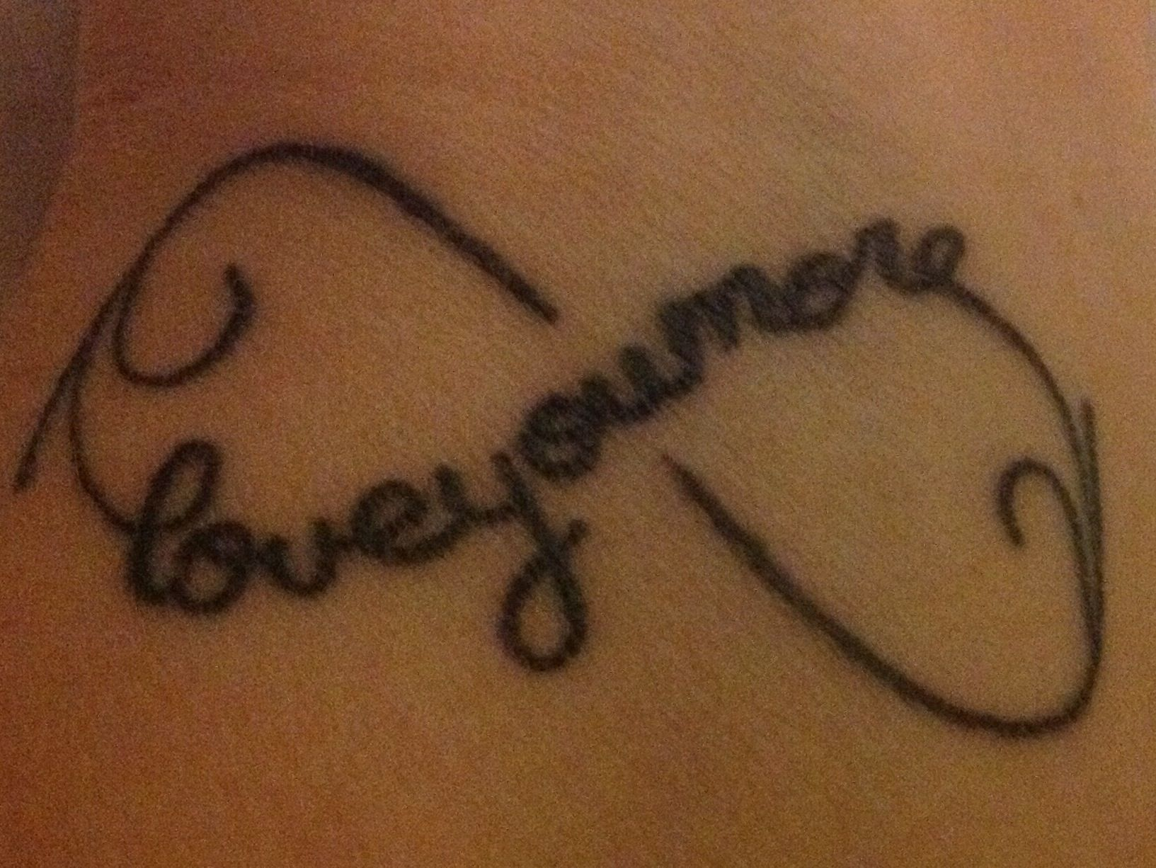 Finally have my first tattoo my moms cherished words love you my moms cherished words love you more combined eternity symbolmy biocorpaavc Images