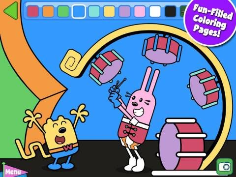 Wubbzy's Dance Party for iPad & iPhone - an interactive storybook featuring the TV series character Wubbzy. Extra activities: 4 educational mini-games (a dress up game, shapes game, alphabet game), 2 videos and a coloring activity. 'Read to me', 'read & play', 'just a book' (simple version with no interactions) reading modes. Original Appysmarts score: 88/100