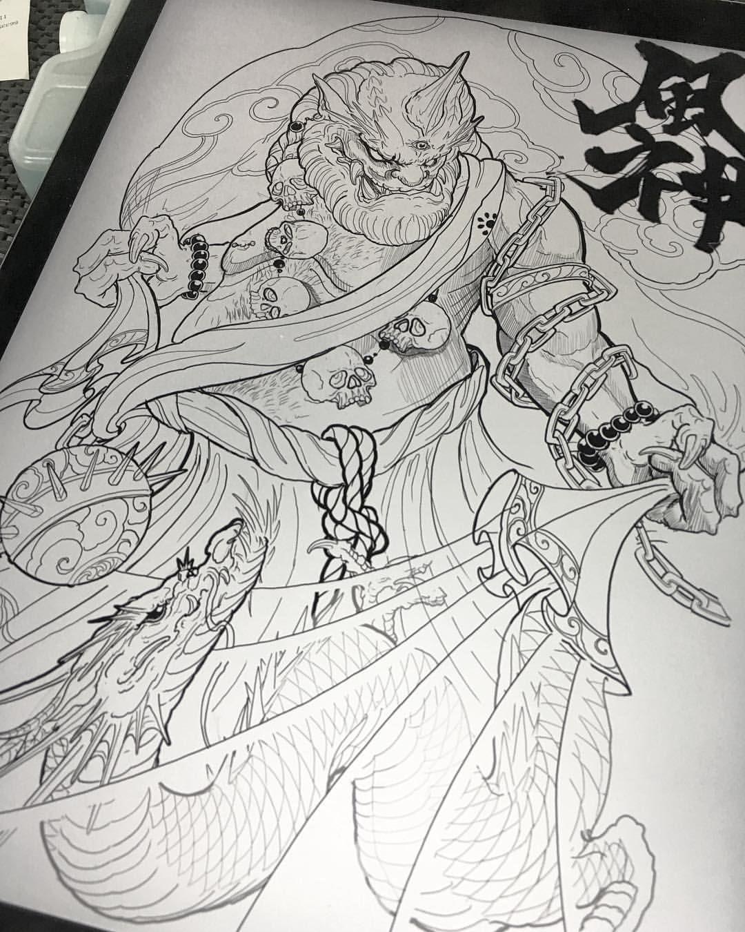 Fujin Vancouvertattoo Irezumicollective Finelinecollective Chronicink Vancouver Fujin Fujintatt Japanese Tattoo Japanese Tattoo Art Japan Tattoo Design