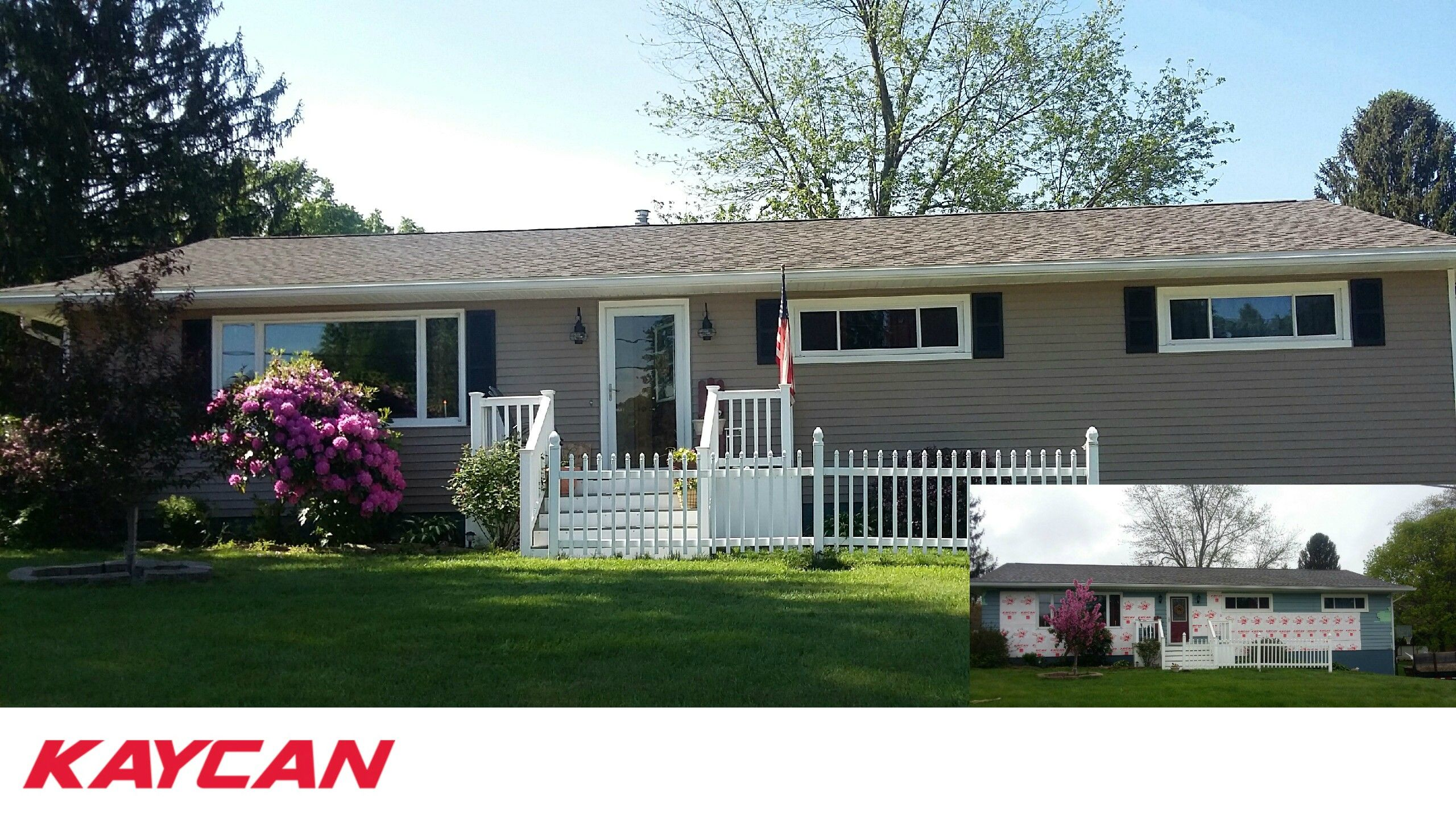 Ranch Style Home Before And After With Kaycan Vinyl