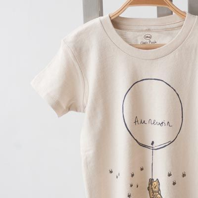 ATSUYO ET AKIKO(アツヨエアキコ) 2011AW ベビー・キッズTEE-ORGANIC POOH AU オーガニックコットン半袖Tシャツ (ベージュ)【楽天市場】