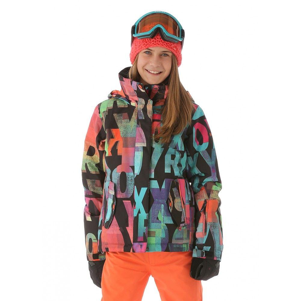 706178e33 Roxy Girls Jetty Jacket (Mazzy Rx Anthracite)