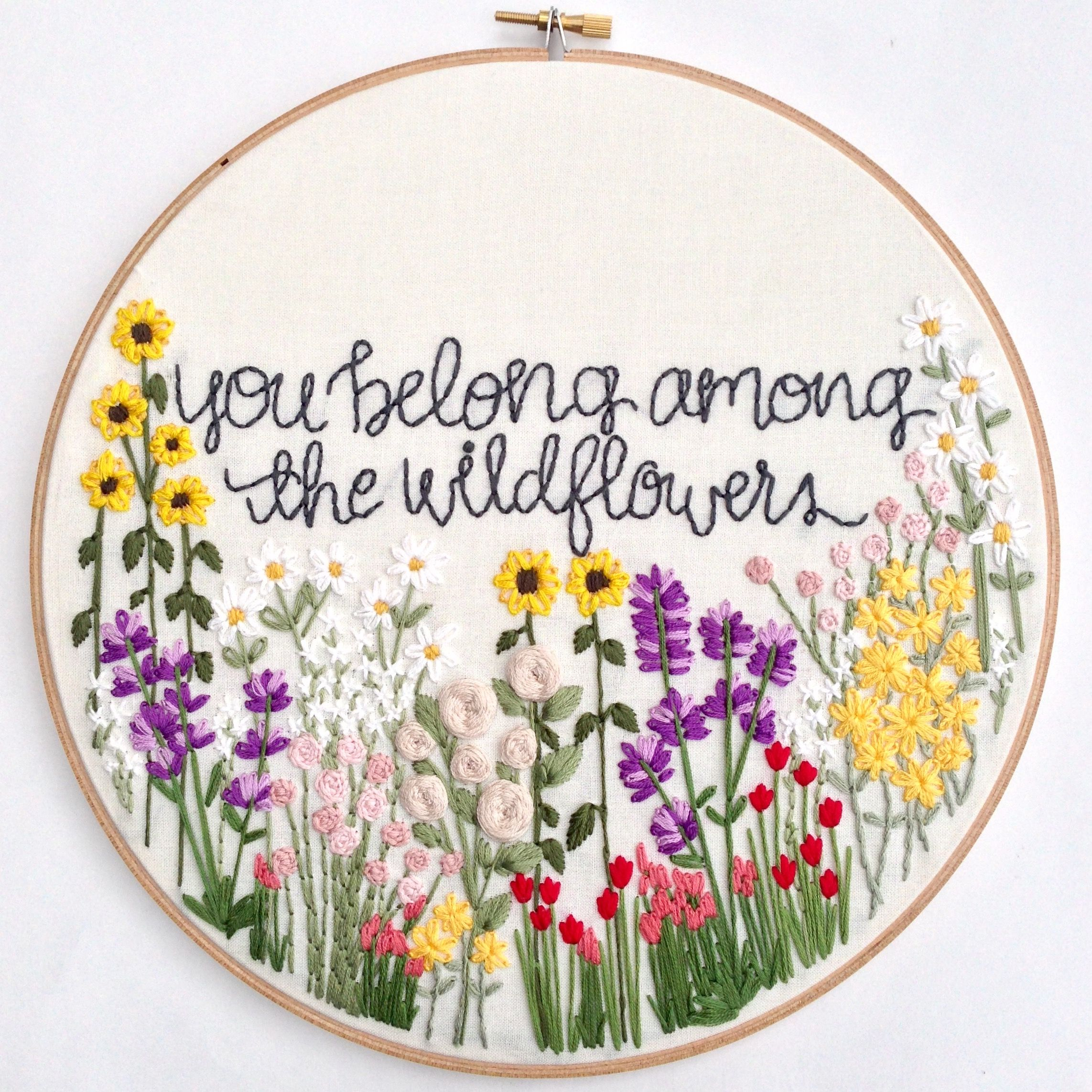 Flower Embroidery Patterns Cool Design Inspiration