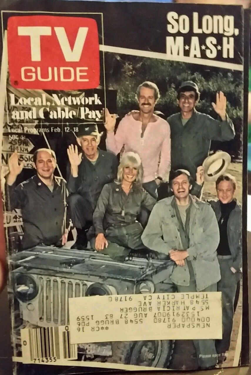 TV Guide, February 1983 (M*A*S*H) Tv guide, Tv, Baseball