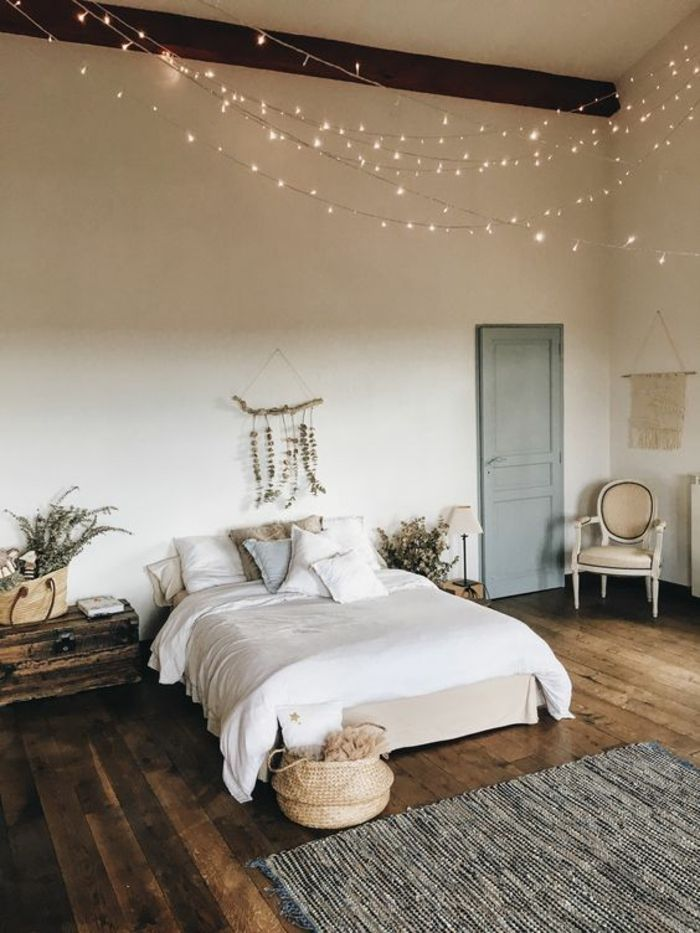 1001 ides pour une guirlande lumineuse pour chambre dco chambre cocoon dcoration pinterest bedroom home and home dcor - Guirlande Lumineuse Deco Chambre