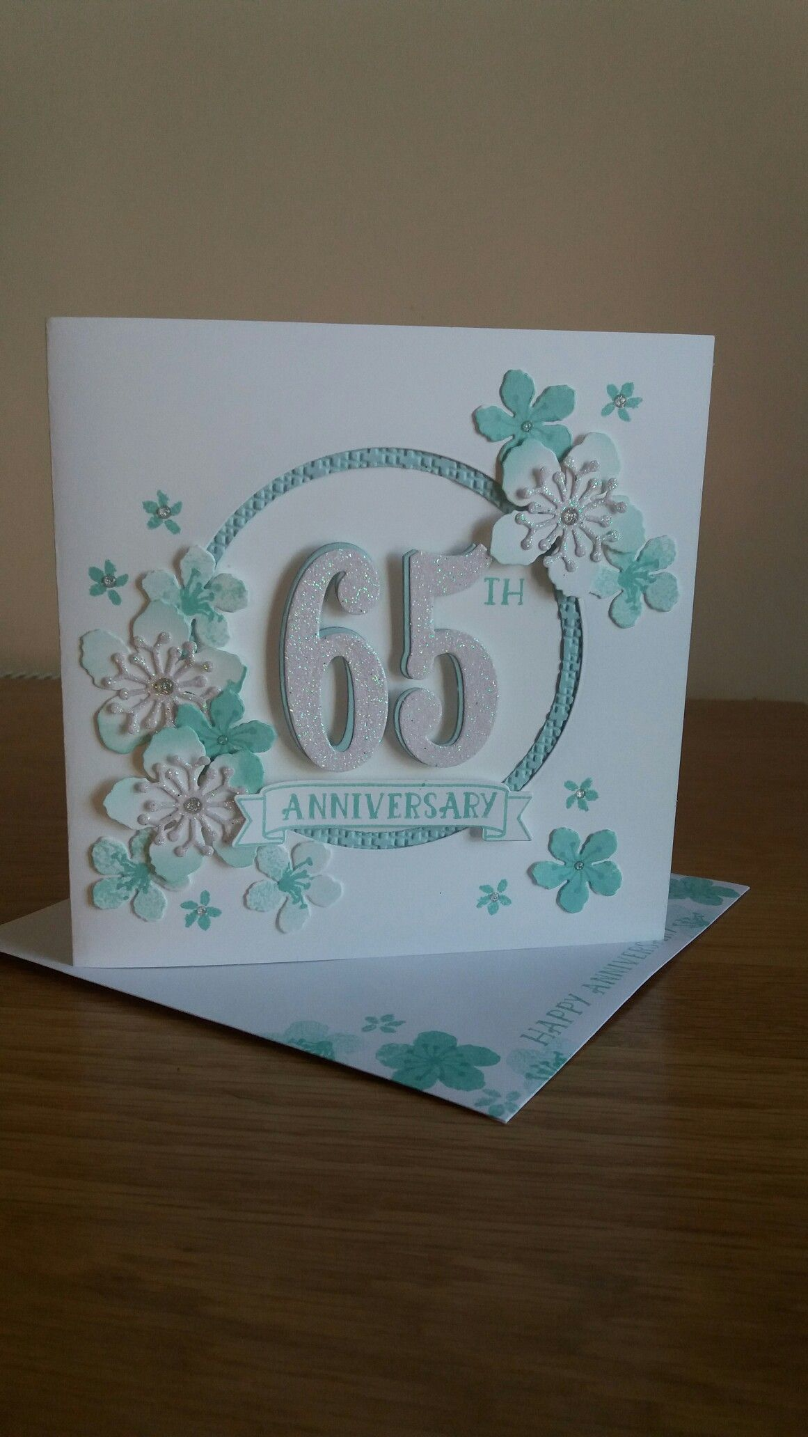 Anniversary card made using Botanicals and Number of Years