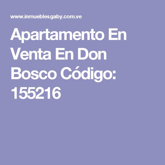 Apartamento En Venta En Don Bosco Código: 155216