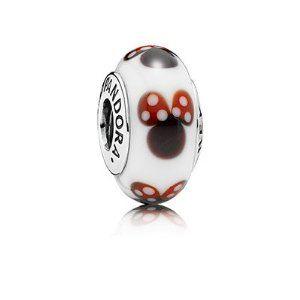 Amazon.com: Pandora Disney Classic Minnie Murano Glass 791634 ...
