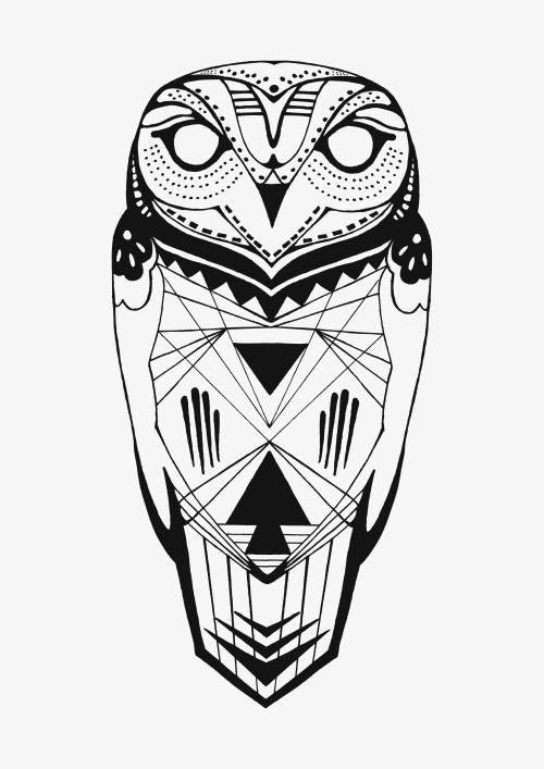 من ناحية رسم هندسي البومة Owl Tattoo Geometric Owl Tattoos