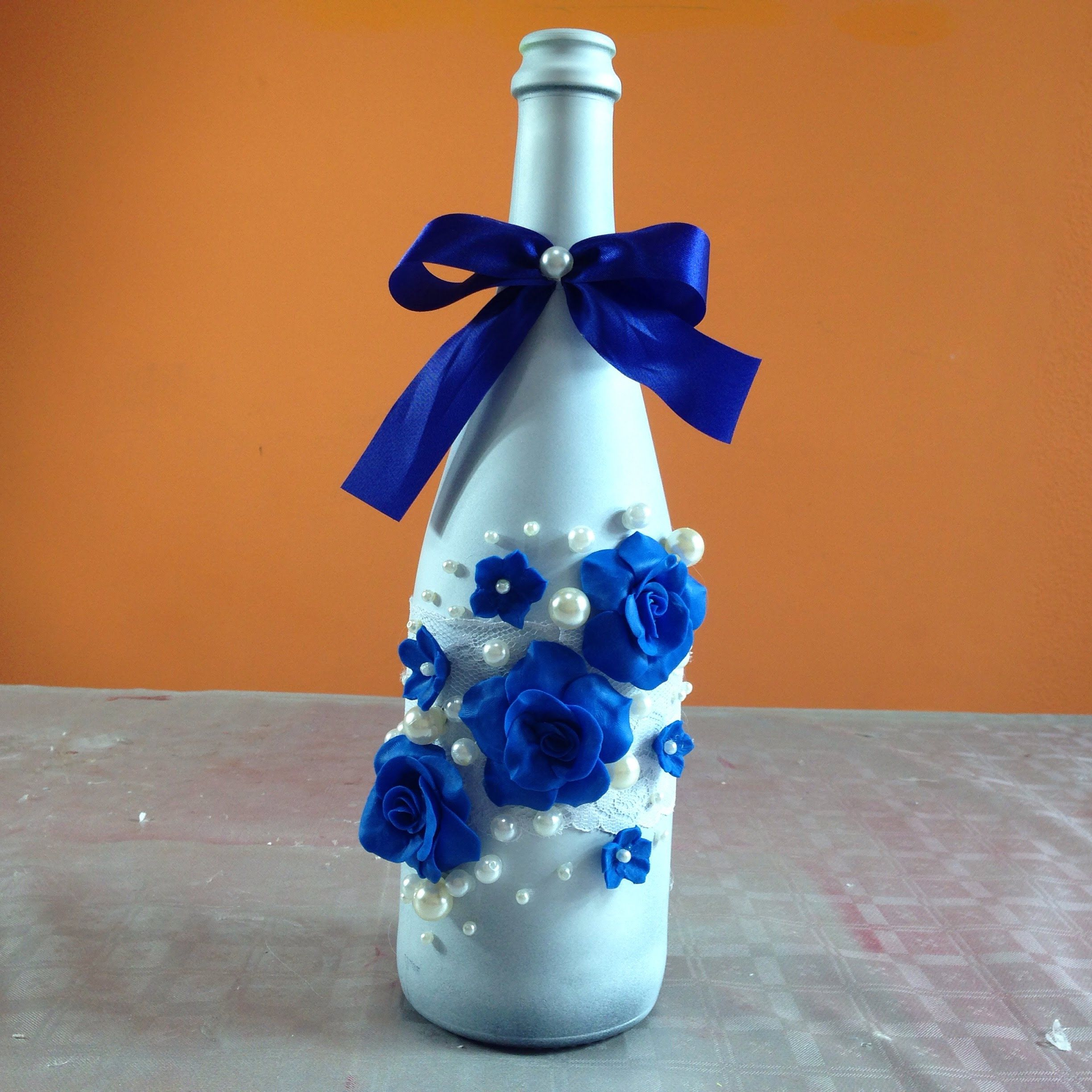 Botellas Decoradas Para 15 Botella Decorada Para Fiesta De Boda Bottle Decorated For