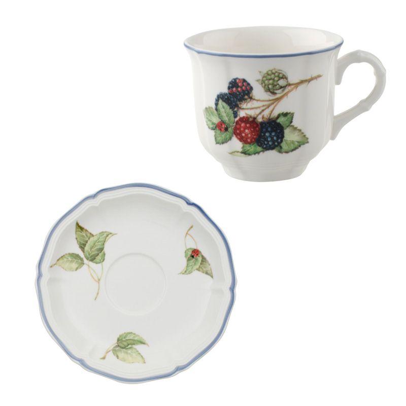 Kaffeetasse mit Untertasse 2-tlg Cottage Villeroy und Boch - Kaffeetassen aus der Serie Cottage  von Villeroy und Boch.