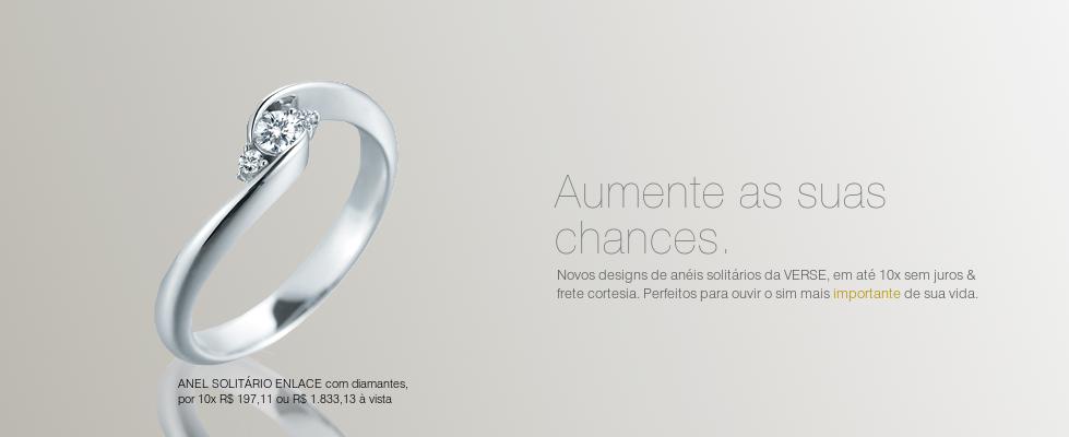 Anéis solitários com diamantes, a especialidade da VERSE. Confira mais: www.verse-joaillerie.com.br