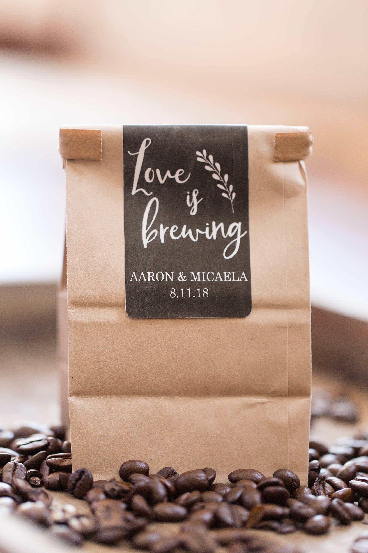 10 Brown Kraft Favor Bags Coffee Favor Bags Love is