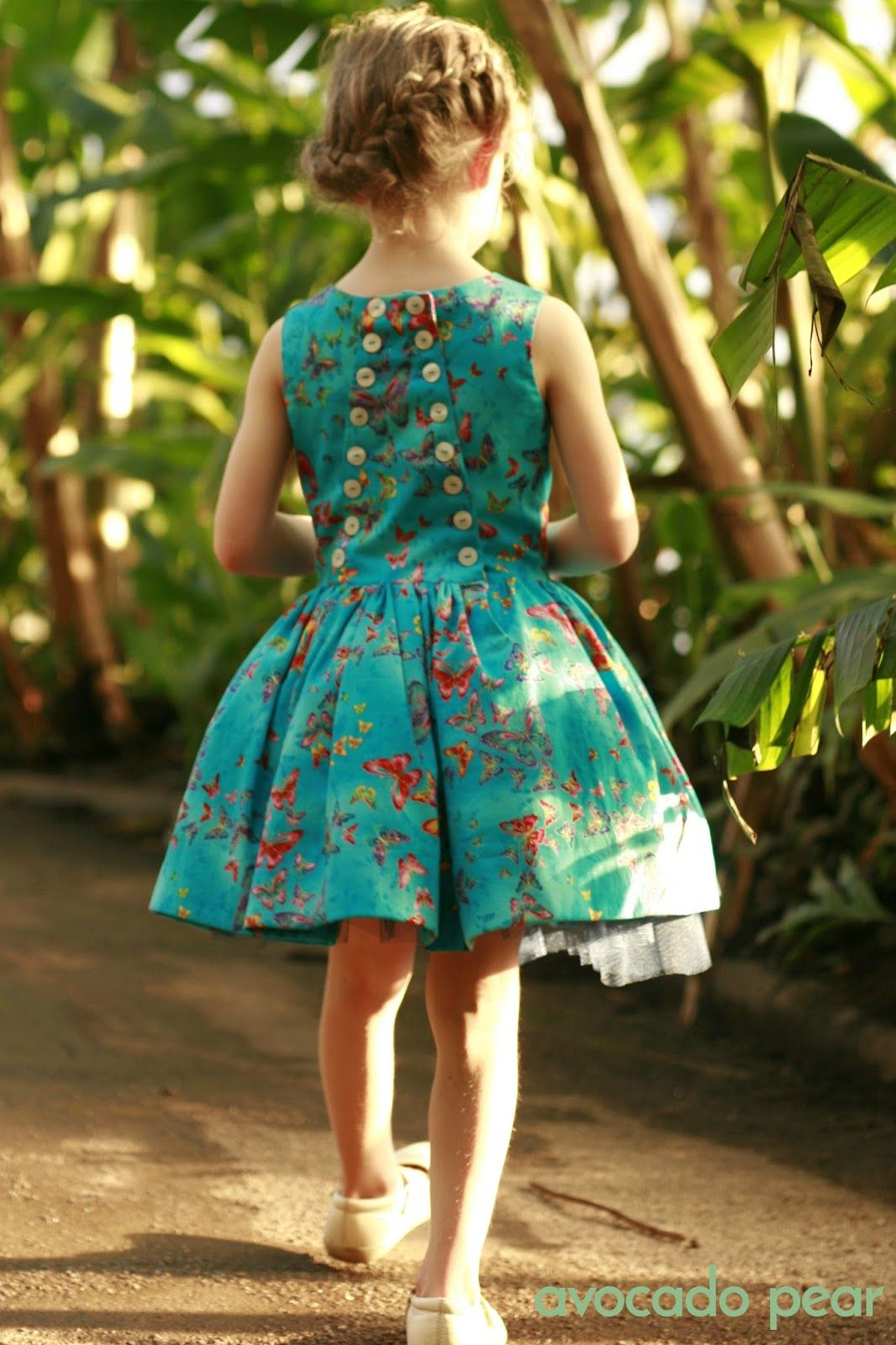 The stunning girls blue butterfly party dress, and how it was ...