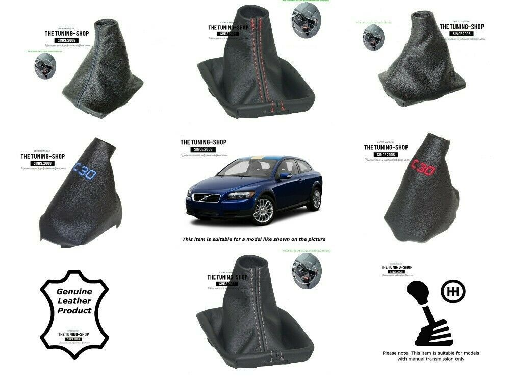 BLUE /& BLACK REAL LEATHER MANUAL GEAR GAITER FITS VAUXHALL OPEL VECTRA C 02-08