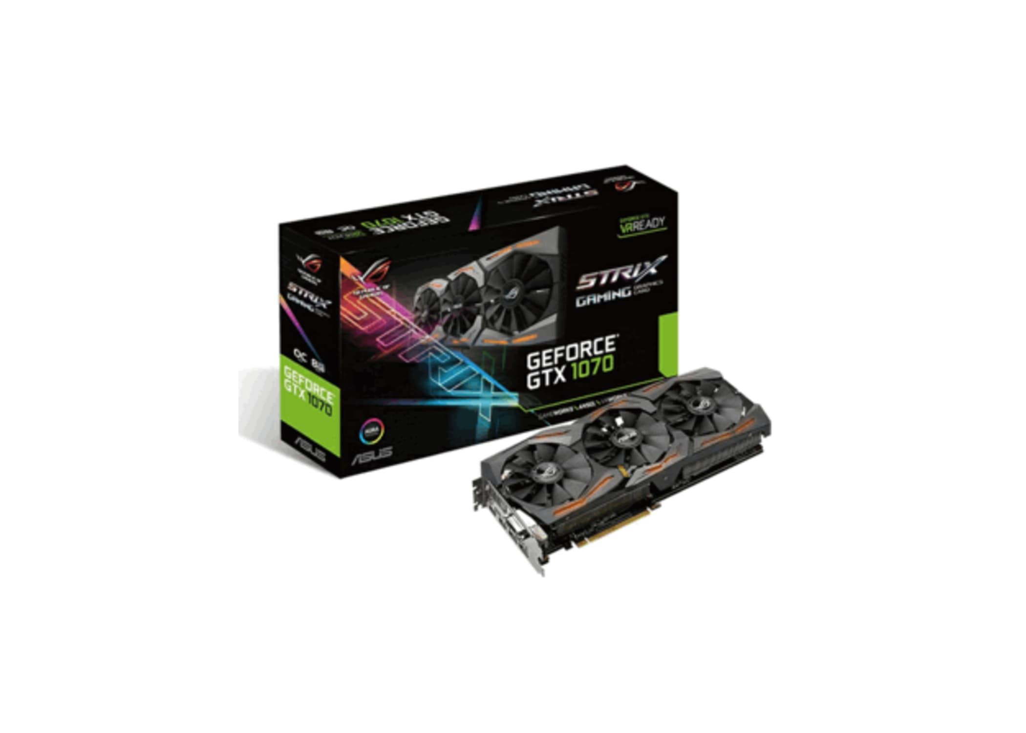 Asus Geforce Gtx 1070 8gb Rog Strix Oc Graphics Card In 2020 Cards Card Games Creative