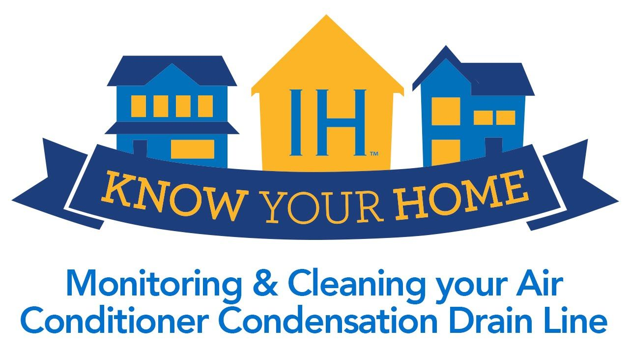 Air conditioner condensation drain line cleaning
