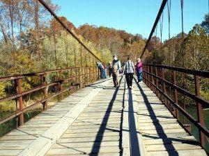 photo essay of the swinging bridges of brumley in lake of the bridge