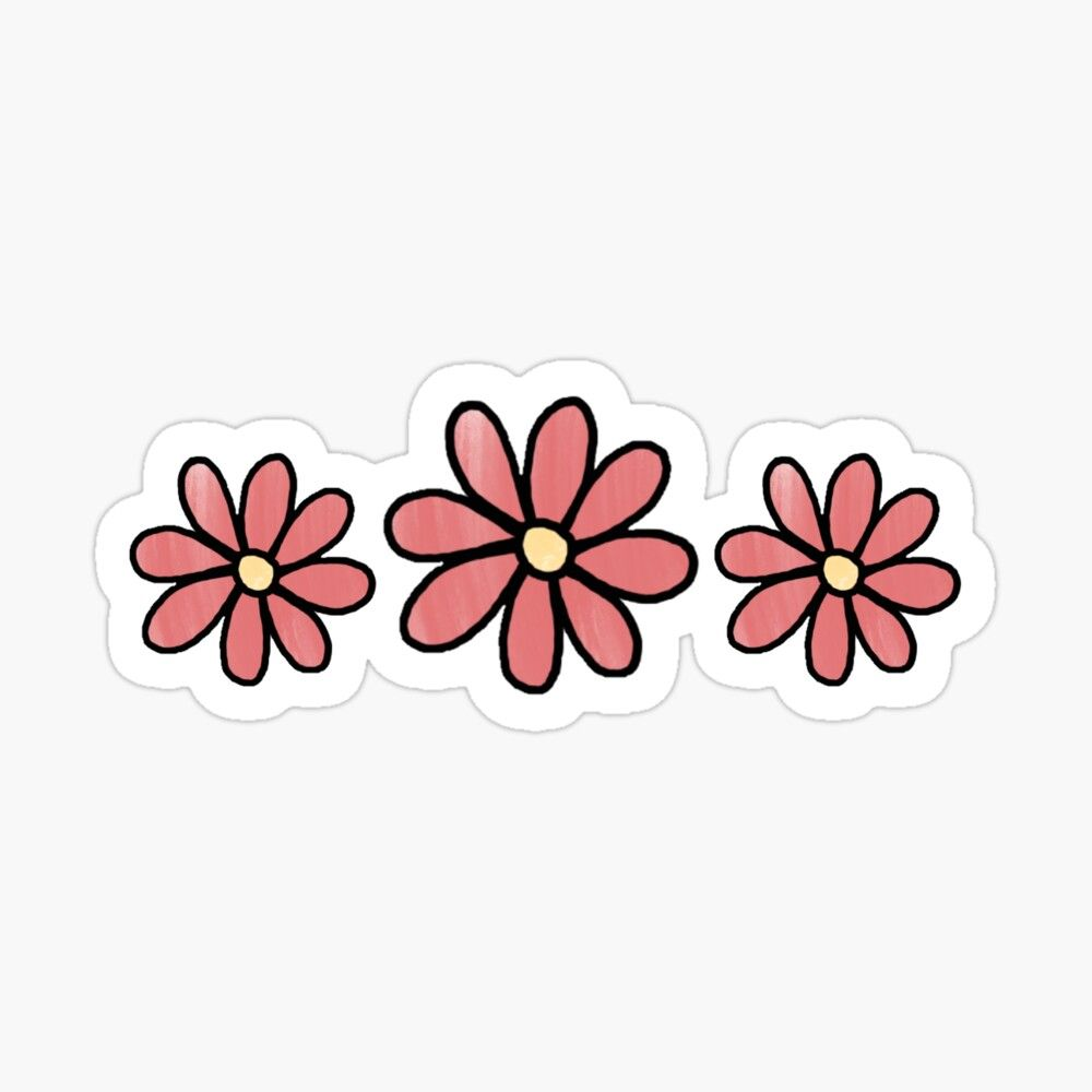 'Pink Flowers' Sticker by acroon726 in 2020   Homemade ...