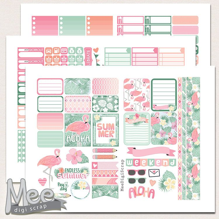 Magic Planner Stickers Vertical Weekly Kit for Erin Condren Life Planners and All Planner Type Stickers