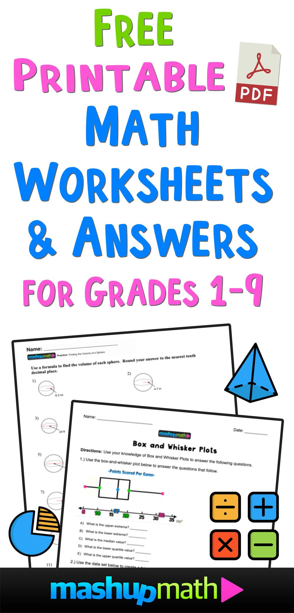 Free Math Worksheets Mashup Math Free Math Free Math Worksheets Math Worksheets
