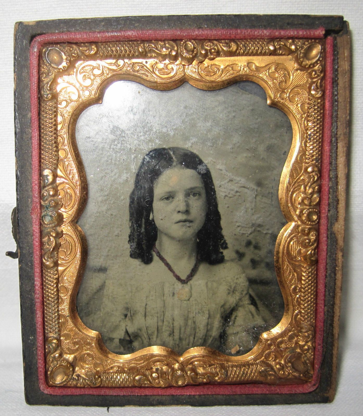 Ambrotype Young Child Girl Ringlet Curls 1 9th Plate in Partial Union Case | eBay