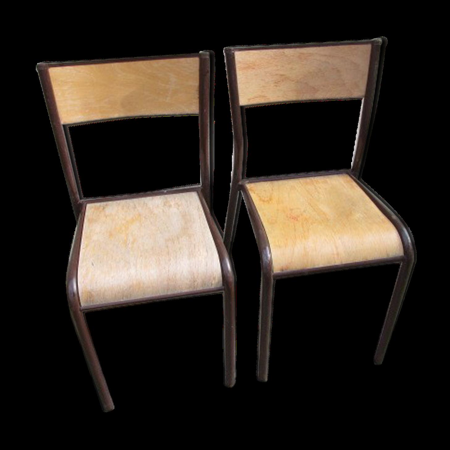 Chaise D École Mullca paire de chaises d'école ancienne mullca | chaise, bois et