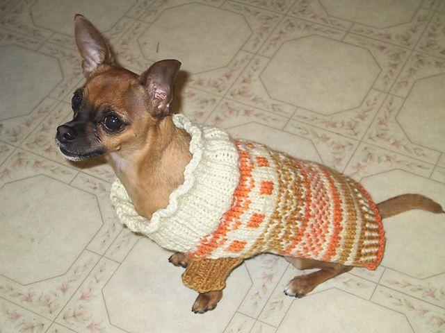 "Ravelry: Fair Isle Dog Sweater pattern by Scarlett ""Kiki"" Geiger ..."