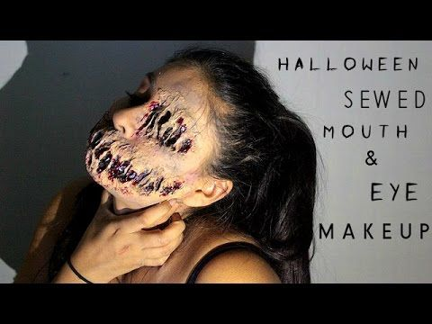 scary mouth  eye halloween special fx makeup  youtube