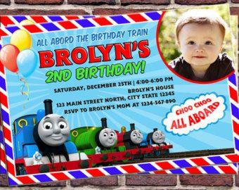 Thomas Train Birthday Invitation By BANTERinvitations