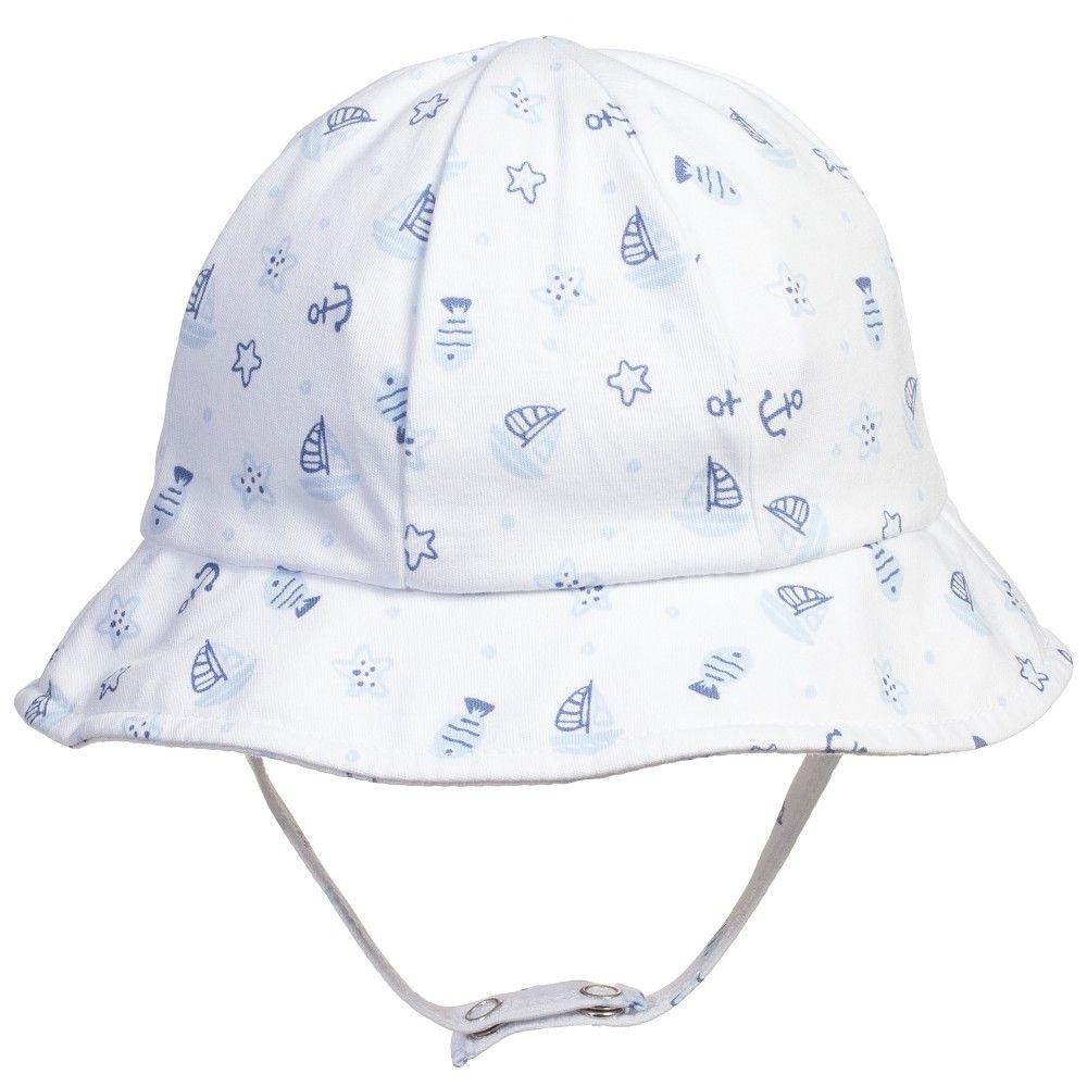 Kissy Kissy Baby Boys Pima Cotton Sun Hat at Childrensalon.com ... e1ab2de17d6