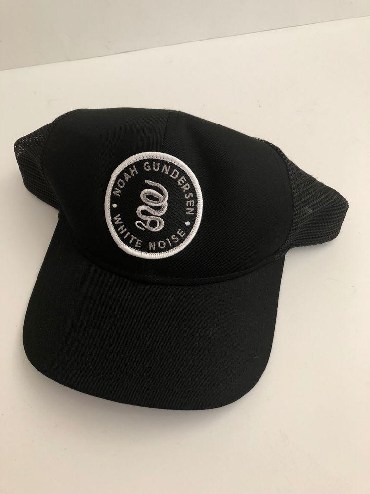 cec5071afd6 Noah Gundersen White Noise Otto Baseball Cap OSFM Snapback Black Mesh Music   fashion  clothing