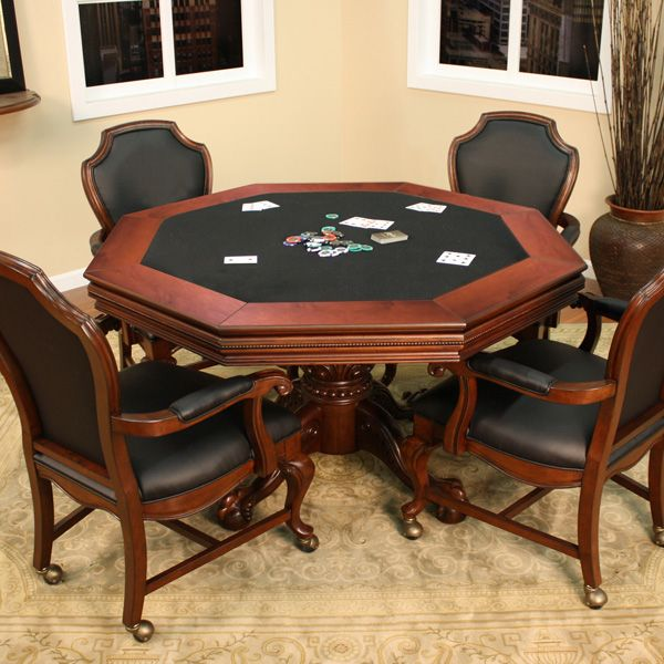 Milano 2 In 1 Poker Table Set By American Heritage Game