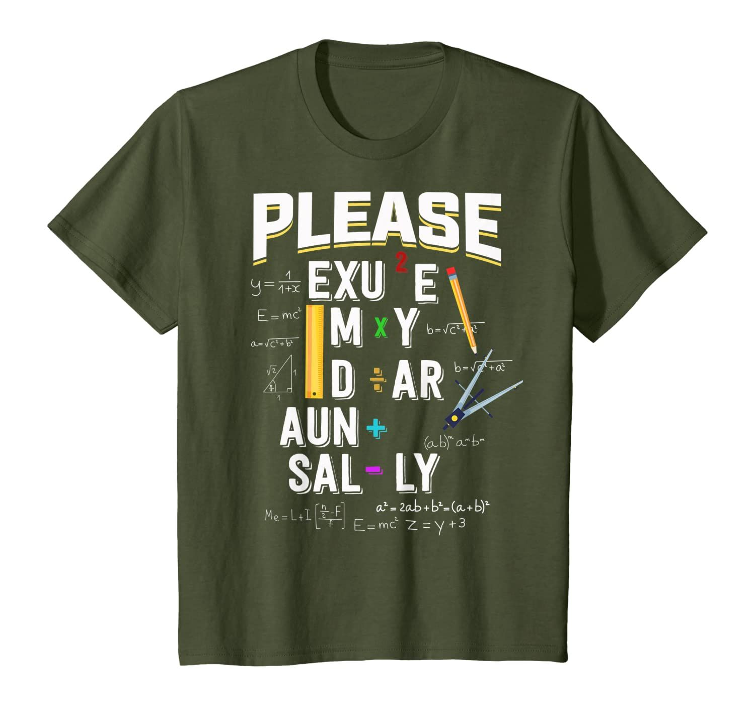 Please Excuse My Dear Aunt Sally For Math Lovers Funny Gift T-Shirt