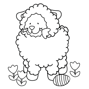 Easter Lamb Coloring Page Religious Egg Pages For Kids