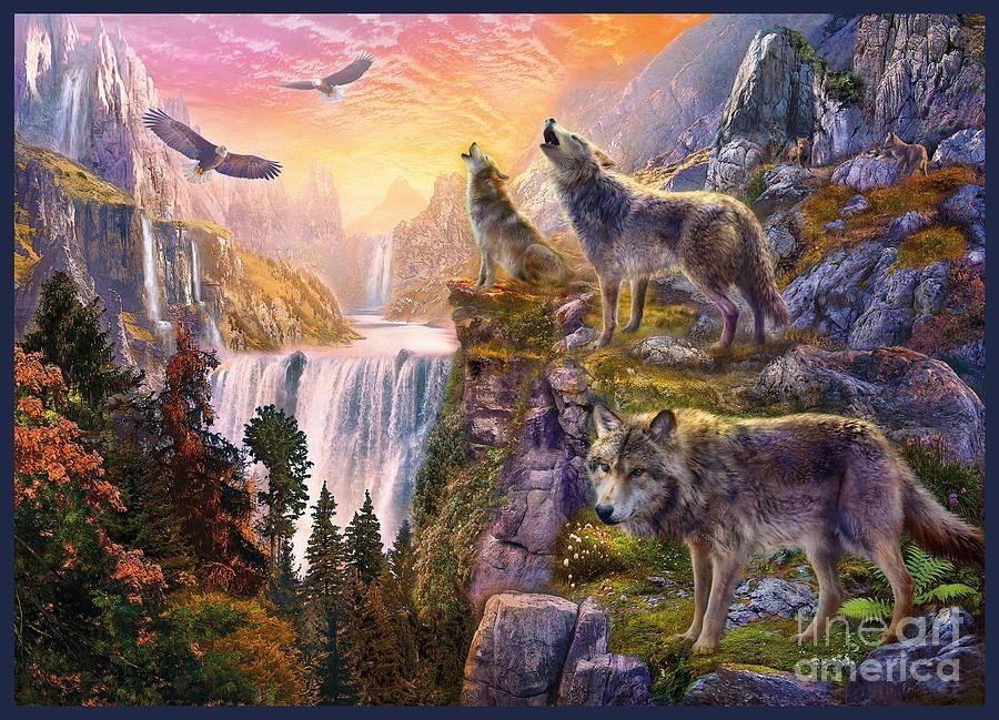 картинки волк и горы является
