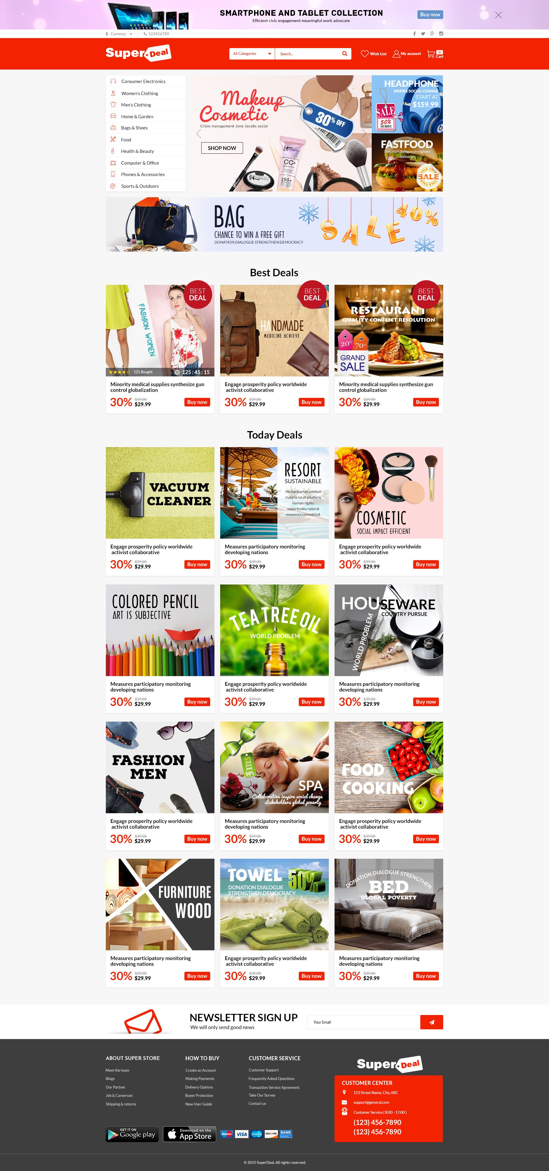 Super Deal Premium Responsive Opencart Theme Download