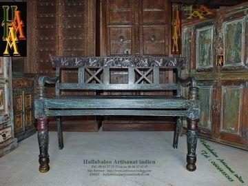 banc vieux banc indien jn7 la629 bois de manguier patine. Black Bedroom Furniture Sets. Home Design Ideas