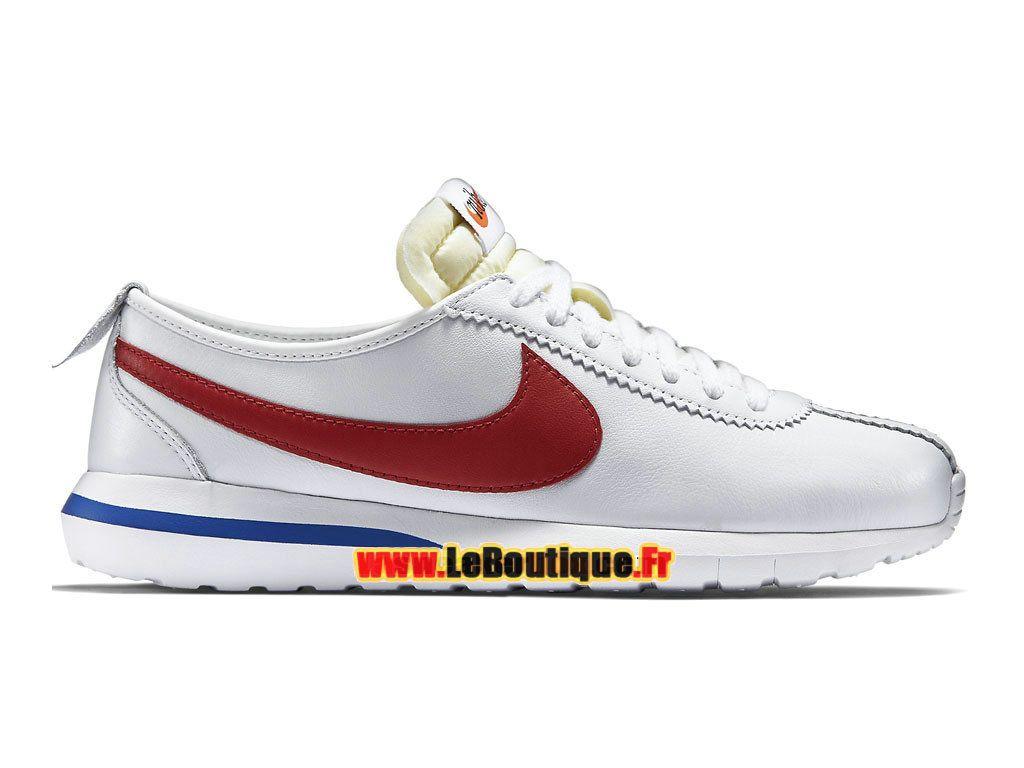 hot sale online 3833b 77692 Nike Roshe One Cortez (GS) - Chaussures Nike Sportswear Pas Cher Pour Femme Enfant  Blanc Rouge intense Bleu électrique 806952-164G