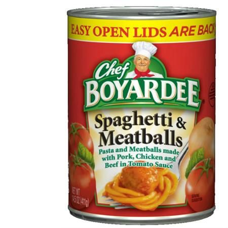 Chef Boyardee Spaghetti And Meatballs Microwave Pasta 14 5 Oz Walmart Com Chef Boyardee Ravioli Food