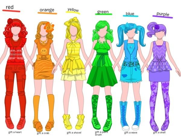 Create Disney Games Disney Games Rainbow Fashion Cosplay Outfits