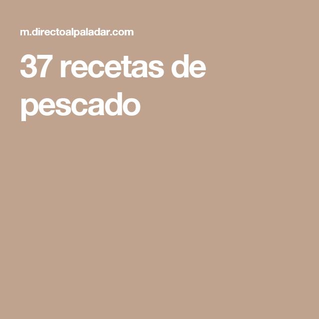 37 recetas de pescado