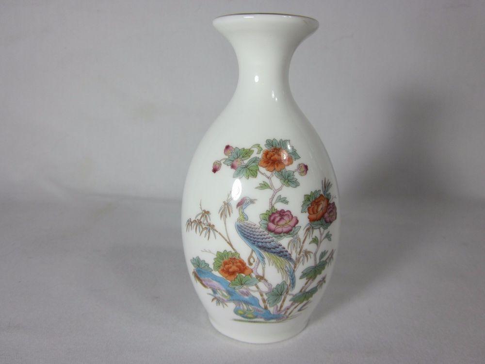 Wedgwood Kutani Crane Bone China Vase England 5 Wedgwood B Bs