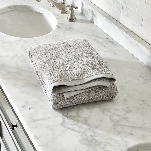 Ribbed Grey Bath Towel Reviews Crate And Barrel Grey Bath