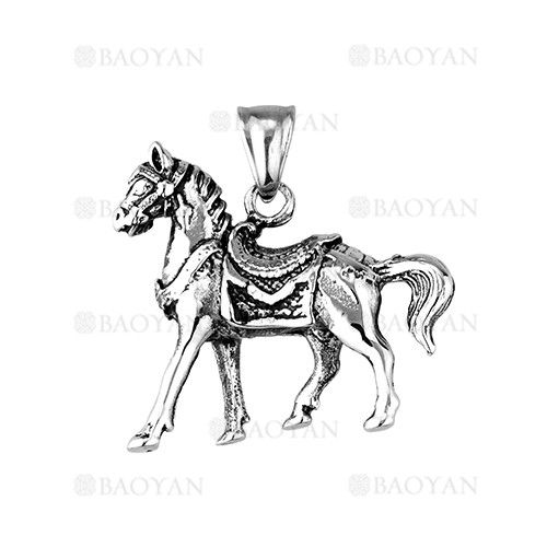 Colgante De Caballo En Acero Plateado Inoxidable Para Hombre Ssptg1131490 Jewelry Mens Gifts Art