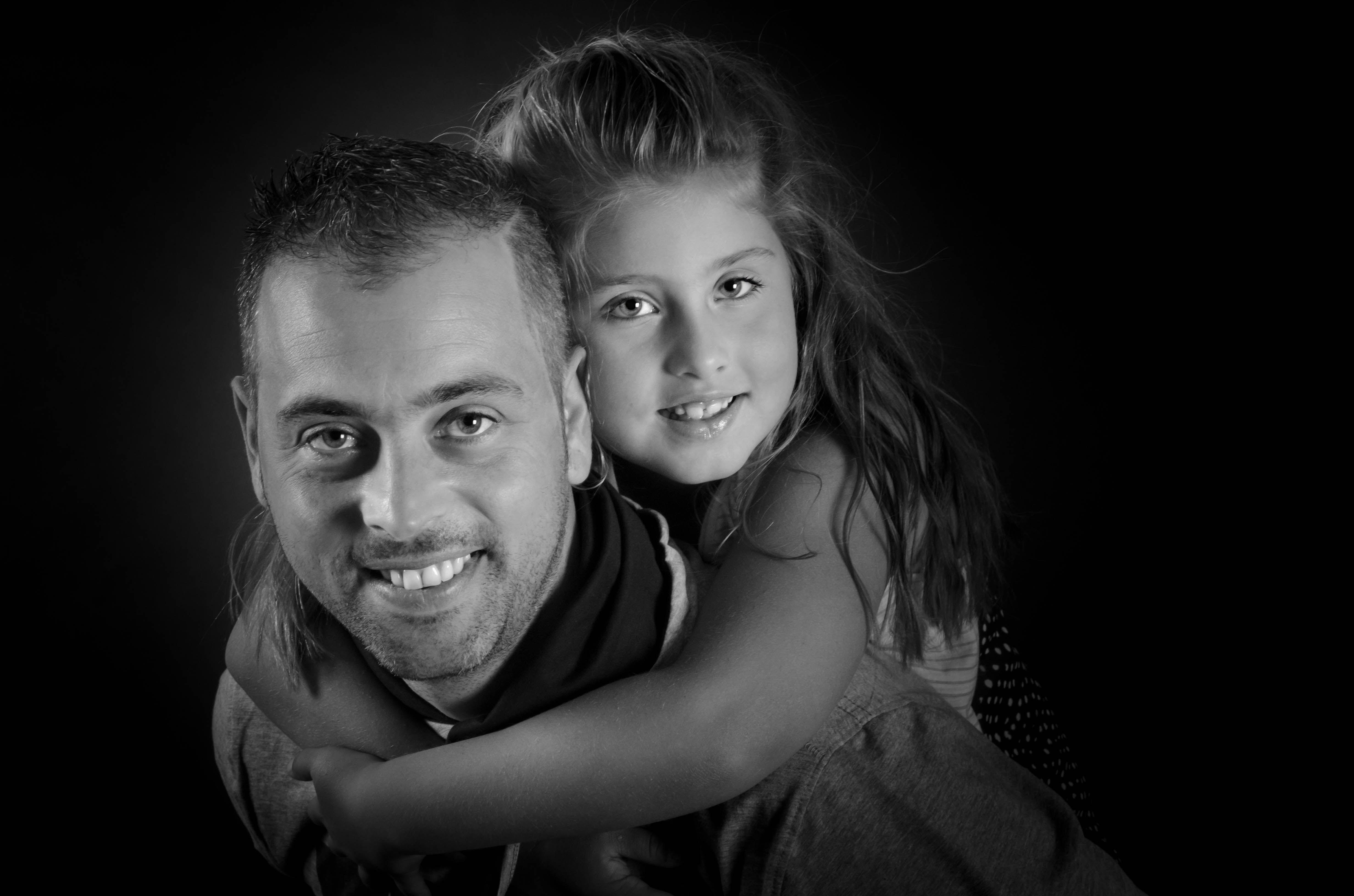 Pap met zijn dochter