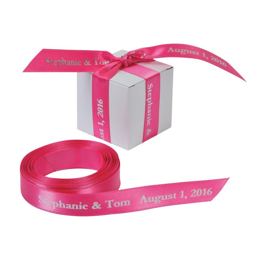 Hot Pink Personalized Ribbon - 5/8\