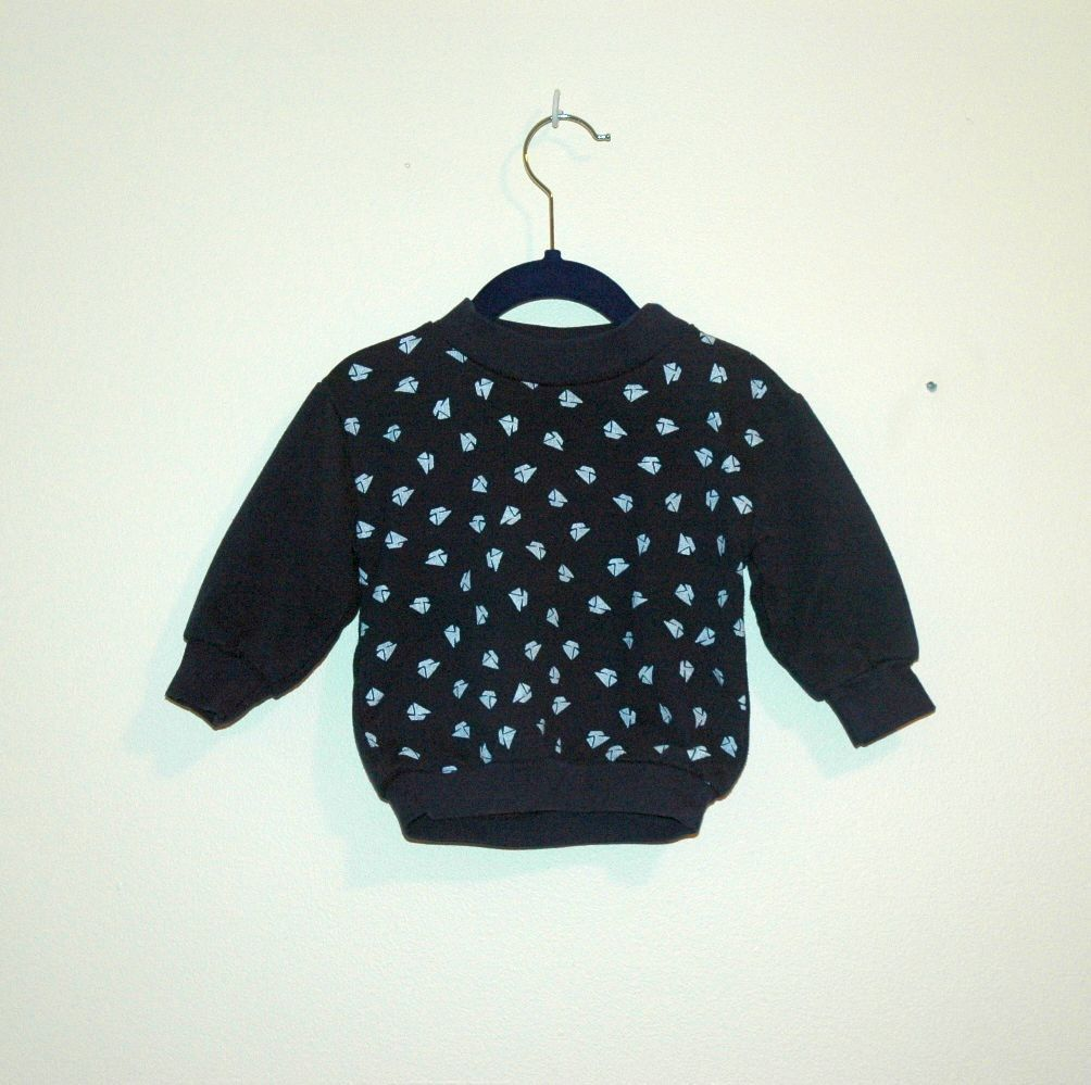 Vintage Navy Blue Sailboat Jumper Sz 1218 Months by LessThanLovely, $10.00