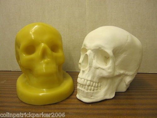 Latex Mould for making this very spooky skull candle holder